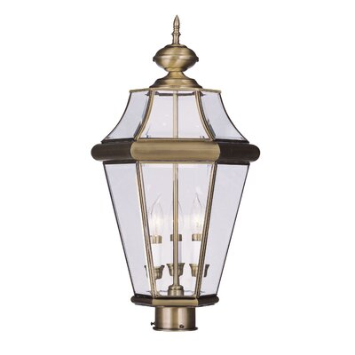Livex Lighting Georgetown 3 Light Outdoor Post Lantern