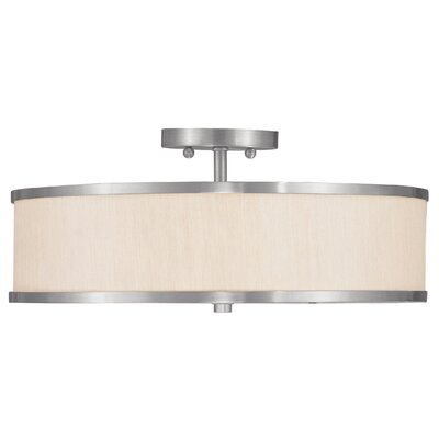 Livex Lighting Park Ridge 3 Light Semi Flush Mount