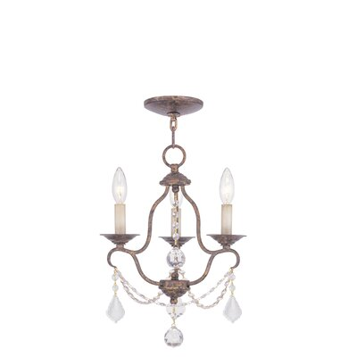 Chesterfield 3 Light Mini Chandelier