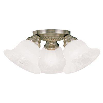 Livex Lighting Edgemont 3 Light Flush Mount