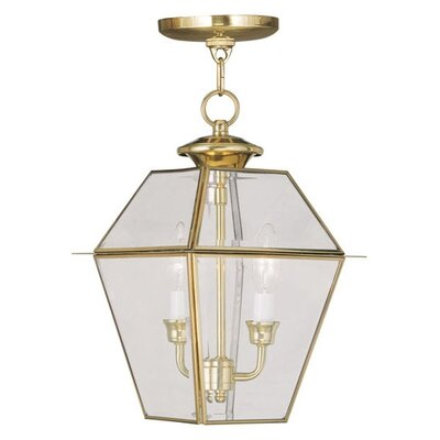 Livex Lighting Westover 2 Light Outdoor Hanging Lantern