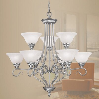 Livex Lighting Coronado 9 Light Chandelier