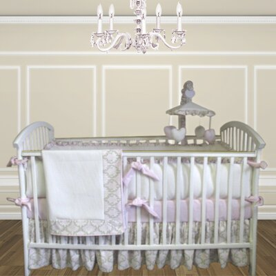 Bebe Chic Emma 3 Piece Crib Bedding Set with Bumper
