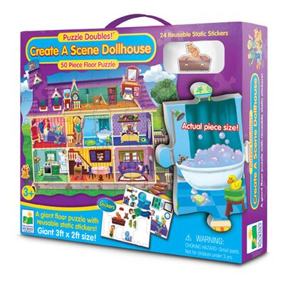 The Learning Journey Puzzle Doubles Create A Scene Dollhouse