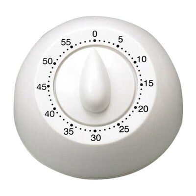 Long Ring Mechanical Timer in White
