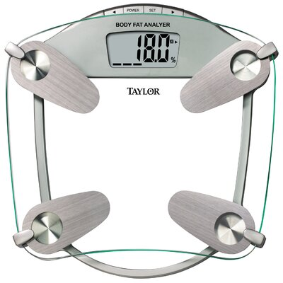 "Taylor Body Fat Digital 15.75"" Bath Scale"