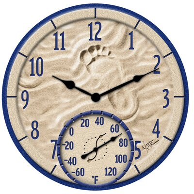 "Taylor By The Sea Clock with 14"" Thermometer"