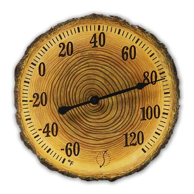 "Taylor Tree Trunk Cross Section 12"" Thermometer"