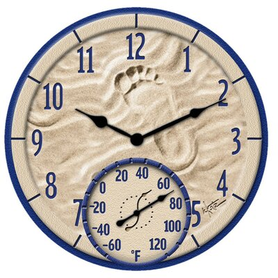 "Springfield Precision Instruments 15.8"" Thermometer Wall Clock"
