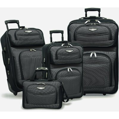 Traveler's Choice Amsterdam 4 Piece Two-Tone Travel Set