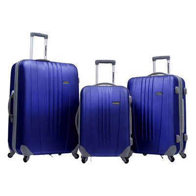 Traveler's Choice Toronto 3 Piece Hardside Spinner Luggage in Navy