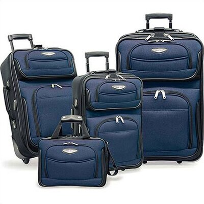 Traveler's Choice Amsterdam 4-Piece Two-Tone Travel Set in Navy