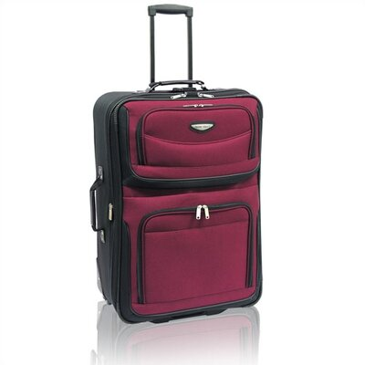 "Traveler's Choice Amsterdam 25"" Two-Tone Expandable Rolling Suitcase"