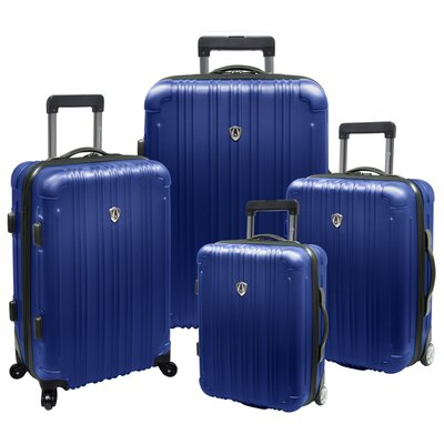 Traveler's Choice New Luxembourg 4 Piece Expandable, Hard-Sided Luggage Set