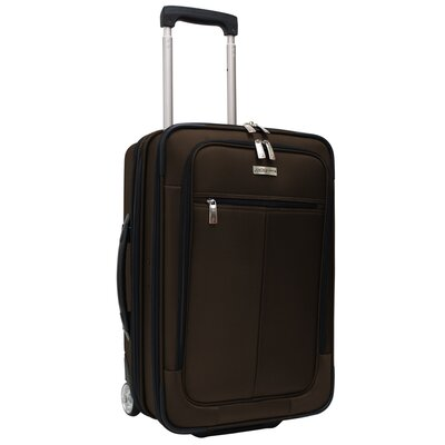 "Traveler's Choice Sienna 21"" Hybrid Hardsided Rolling Carry On Garment Bag Upright"