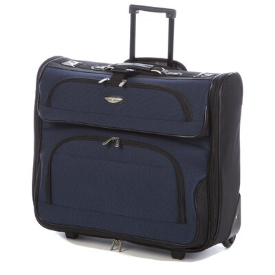 <strong>Traveler's Choice</strong> Amsterdam Two-Tone Rolling Garment Bag