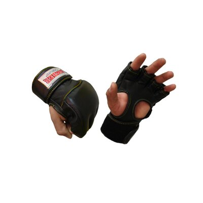 Amber Sporting Goods Professional Open Palm Grappling Gloves in Black