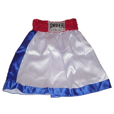 Amber Sporting Goods Boys Boxing Shorts in Red / White / Blue