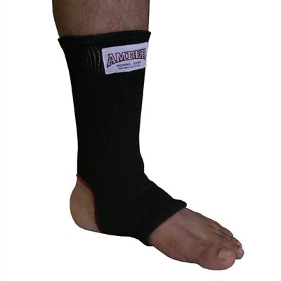 Amber Sporting Goods Ankle Wraps in Black/Red