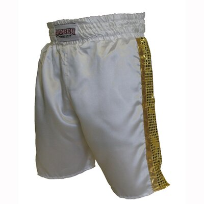 Mexican Style Boxing Shorts in White