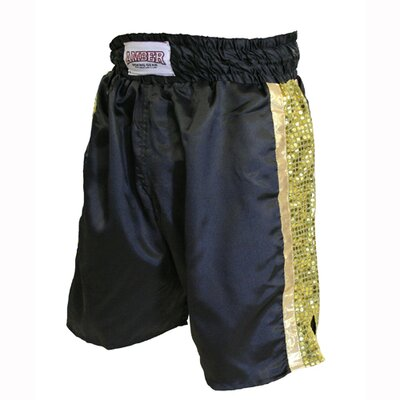 Amber Sporting Goods Mexican Style Boxing Shorts in Black