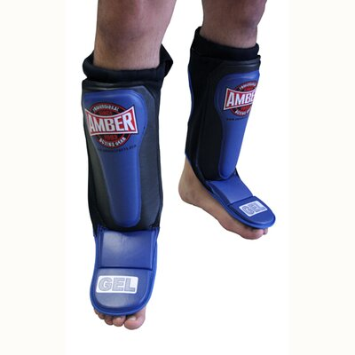 Amber Sporting Goods Gel Shin and Instep Guards Slip on MMA Guards