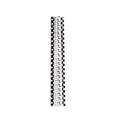 Box of 144 Black and White Checkered Paper Straws