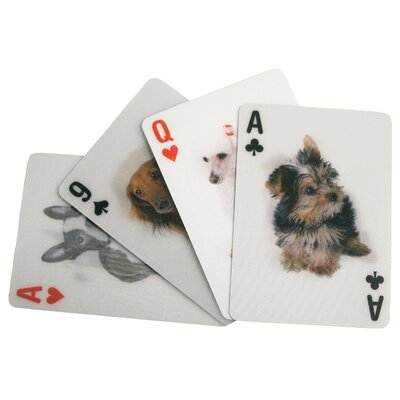 Kikkerland 3-D Dogs Playing Cards