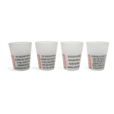 Kikkerland Accessories Alcohol Warning Shot Glass
