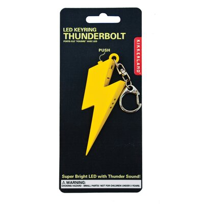 Kikkerland Accessories Thunderbolt LED Keychain