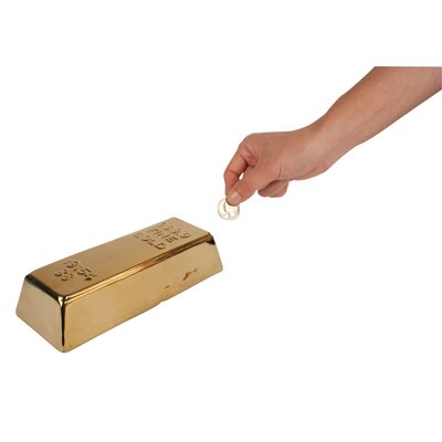 Kikkerland Coin Bank Gold Bar