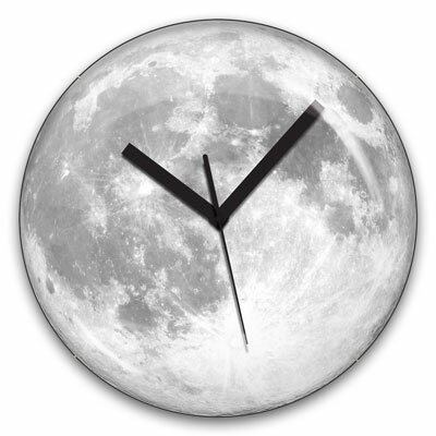 "Kikkerland 13.5"" Moon Wall Clock"