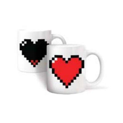 Kikkerland Morph Pixel Heart Mug