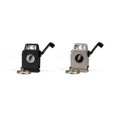 Kikkerland Robo Crank Flashlight Keychain