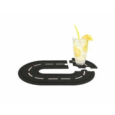 Kikkerland Race Track Cork Coasters (Set of 6)