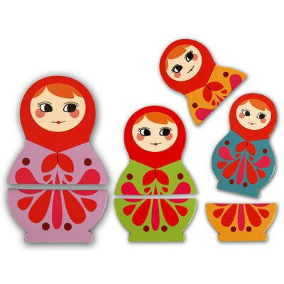 Kikkerland Babushka Rubber Magnets (Set of 6)