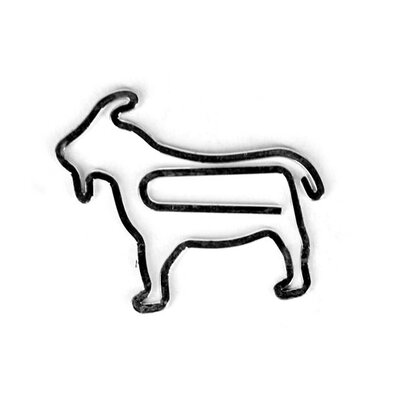 Kikkerland Goat Paper Clips (Set of 6)