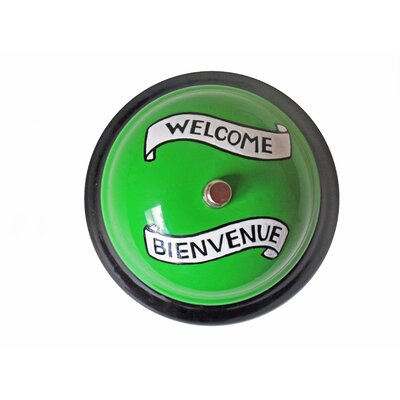 Kikkerland Welcome Desk Bell