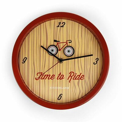 Kikkerland Time to Ride Wall Clock