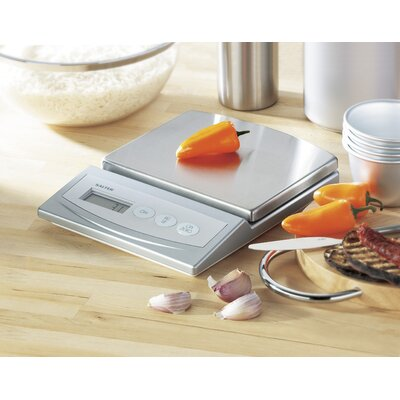 Salter Electronic Kitchen Scale in Silver
