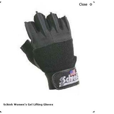 Schiek Sports, Inc. Women's Gel Lifting Gloves