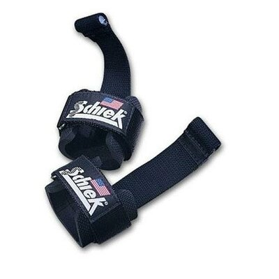 Schiek Sports, Inc. Power Lifting Straps with Dowel in Black