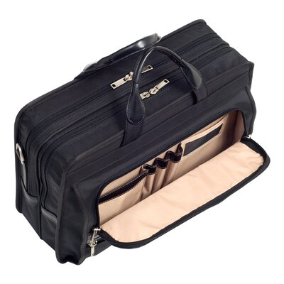 McKlein USA P Series Elston Nylon Laptop Case in Black