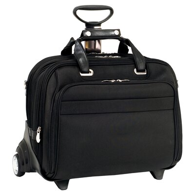 R Series Midway Nylon 2-in-1 Removable-Wheeled Laptop Case in Black