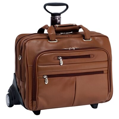 R Series OHare Leather 2-in-1 Removable-Wheeled Laptop Case