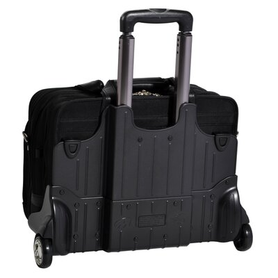 McKlein USA R Series Roosevelt Leather 2-in-1 Removable-Wheeled Case in Black