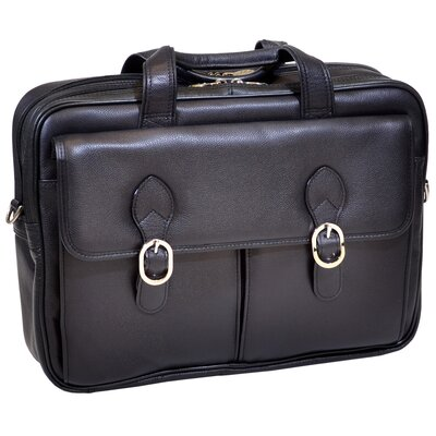 Hyde Park Leather Laptop Briefcase