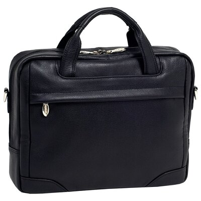 S Series Bridgeport Large Leather Laptop Briefcase