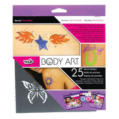 Tulip Body Art 25-Pieces Favorite Stencil