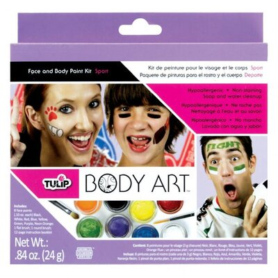 Tulip Body Art Sport Themed Paint Kit